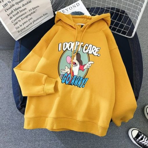 Cute cartoon funny witch yellow hoodie ZNF08