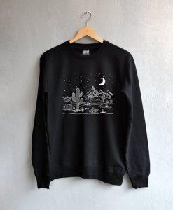 Desert starry night Sweatshirt AY