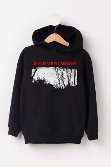 Destination unknown black hoodie ZNF08