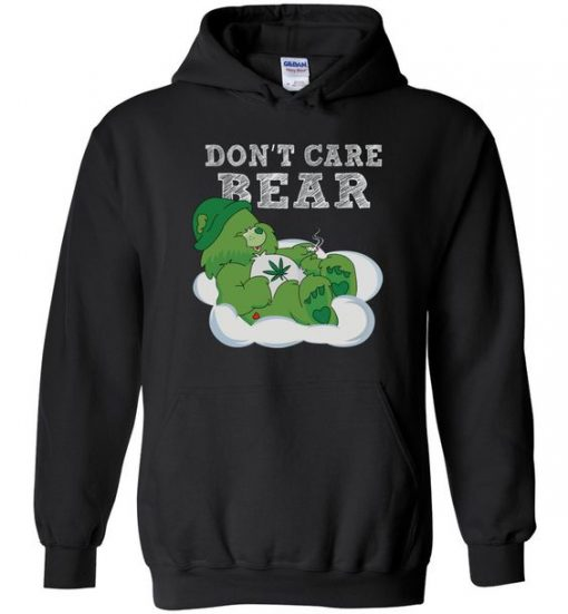 Don't Care Bear Weed Hoodie ZNF08