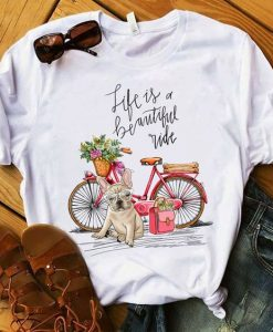 French bulldog Bike T-shirt ZNF08
