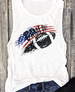 Game On American Flag Tank TOP ZNF08