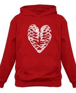 Heart Skeleton Hoodie ZNF08