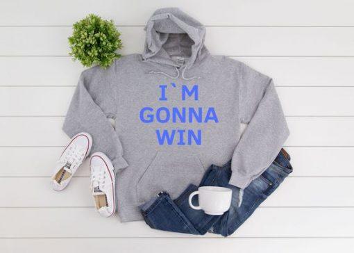 IM GONNA WIN Grey Hoodie ZNF08