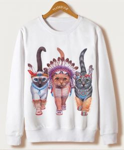 Indians Cats Sweatshirt ZNF08