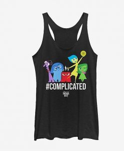 Inside Out Complicated Emotions Girls Tanks ZNF08