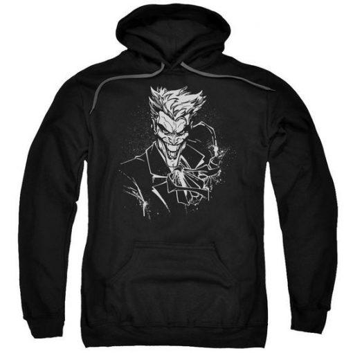 Joker'S Splatter Smile Mens Pullover Hoodie ZNF08