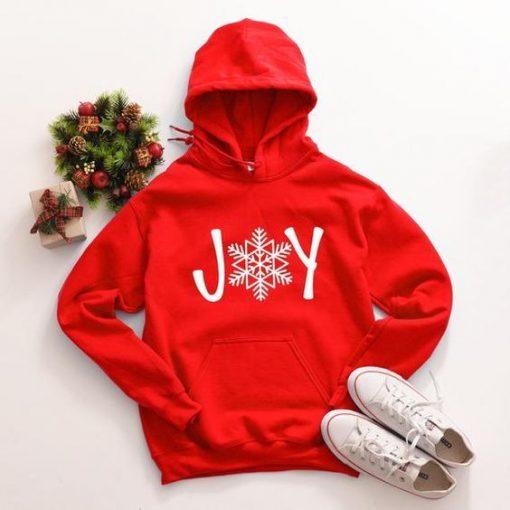 Joy Christmas Red Hoodie ZNF08