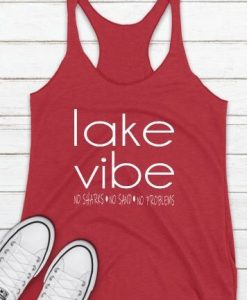 Lake Vibes Racer Back Tank Top ZNF08