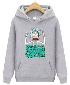 Male Bodybuilding Vespa Rick And Morty printing Hoodies ZNF08