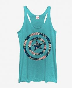 Marvel Floral Print Girls Tank Top ZNF08