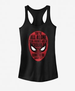Marvel SpiderMan Face words Tank Top ZNF08