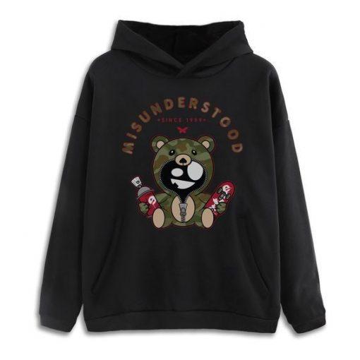 Misunderstood teddy bear Hoodie ZNF08