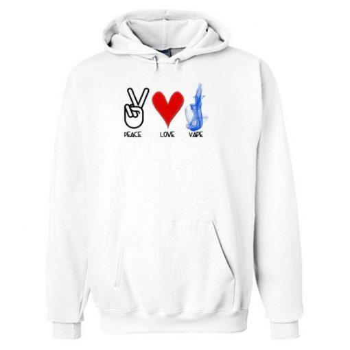 Peace Love Vape Hoodie ZNF08