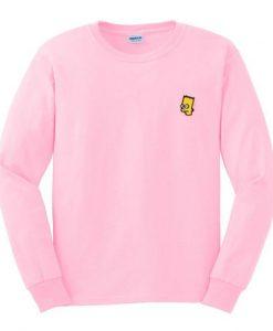 bart simpson pink sweatshirt ay