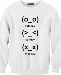 cute emoji days Sweatshirt AY
