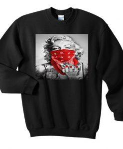 marlyn monroe diamond gengster sweatshirt ZNF08