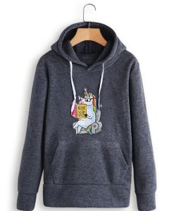 nicorn Front Long Sleeve Loose Hooded ZNF08