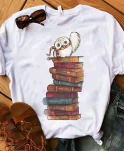 Owl And Books T Shirt ZNF08