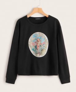 Angel Print Sweatshirt ZNF08