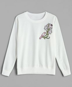 Autumn and Spring Floral SWEATSHIRT ZNF08