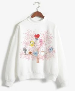 BT21 Women Sleeve Sweatshirt ZNF08
