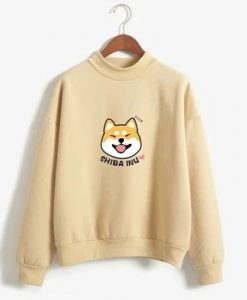 Cartoon Dog Shiba Inu Anime Printed Sweatshirt ZNF08
