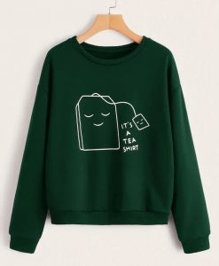 Cartoon & Letter Print Sweatshirt ZNF08
