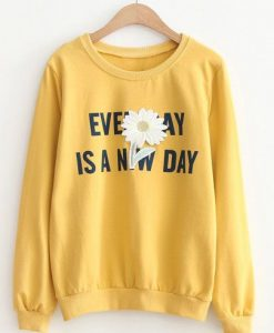 Flower Patch & Slogan SWEATSHIRT ZNF08