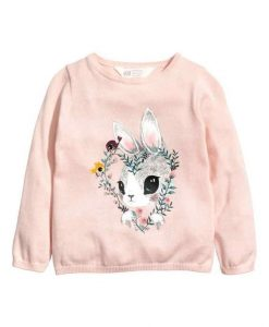 Flower Rabbit Sweatshirt ZNF08