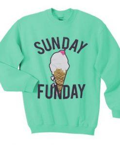 Forever 21 sunday funday Sweatshirt ZNF08