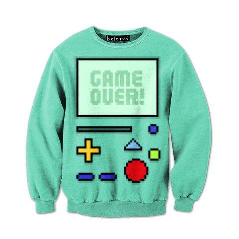 Game Over Sweatshirt ZNF08