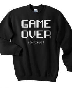 Gameover-continue-Sweatshirt ZNF08