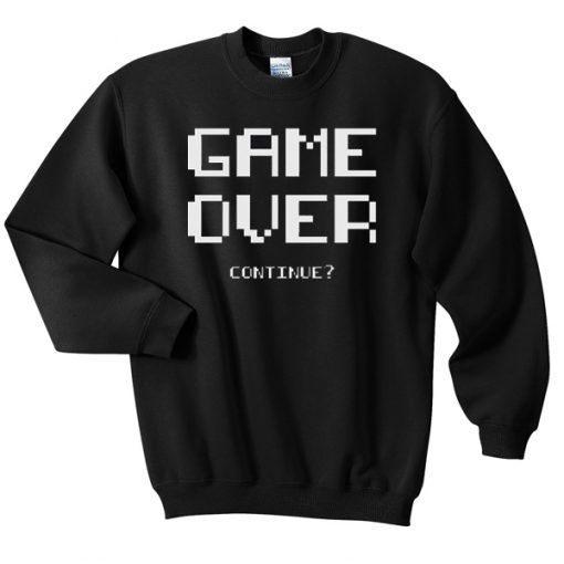 Gameover-continue-Sweatshirt ZNF08