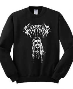 Ghostemane Graphic Sweatshirt black ZNF08