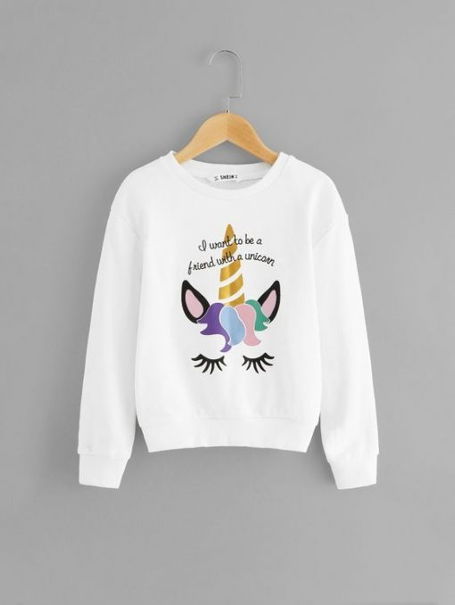 Girls Mixed Sweatshirt ZNF08
