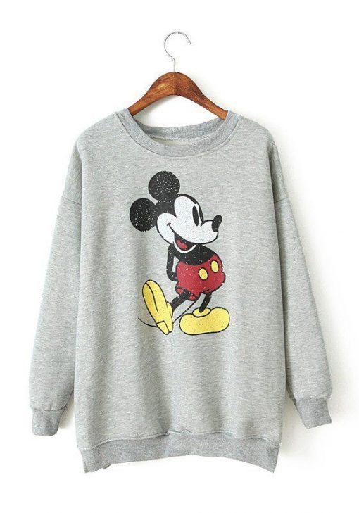 Grey Mickey Mouse SWEATSHIRT ZNF08