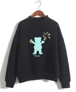 Grizzly Bear Pullover Sweatshirt ZNF08