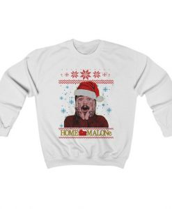 Home Malone Funny Post Malone Ugly Christmas Sweatshirt ZNF08