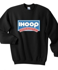 I Hoop Graphic Sweatshirt ZNF08
