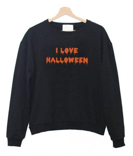 I Love Halloween Sweatshirt ZNF08