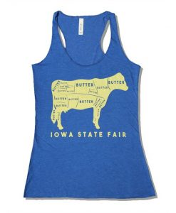 Iowa State Fair Butter Cow Racerback Tank ZNF08