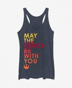 Star Wars May The Force Be With You Womens Tank Top ZNF08