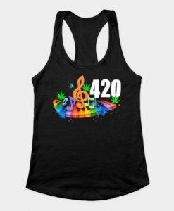 420 weed tank top ZNF08