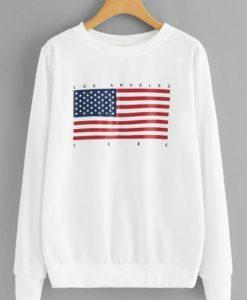 American Flag Print Sweatshirt ZNF08