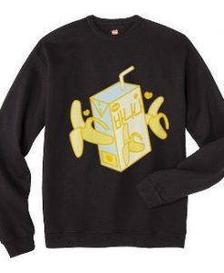 Banana Milk Box Sweatshirt ZNF08