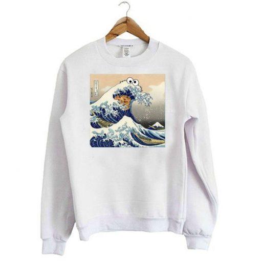 Cookie Monster Wave Sweatshirt ZNF08