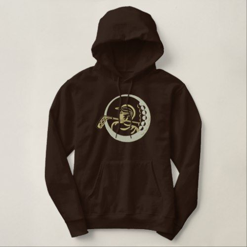 Golf Design Embroidered Hoodie ZNF08