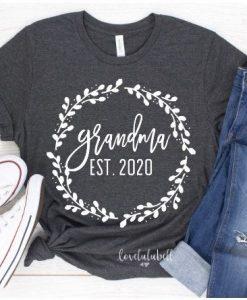 grandma est 2020 shirt ZNF08