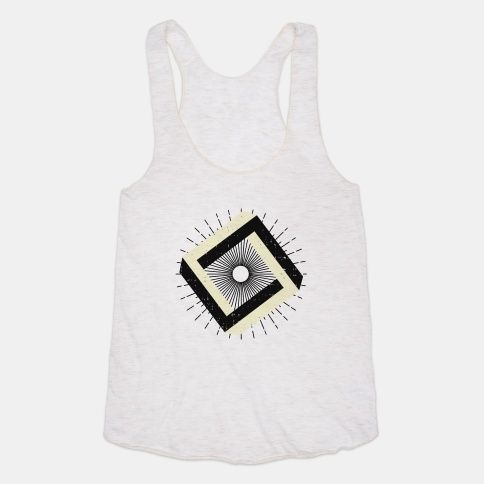 3D Geometric Square T-Shirt ZNF08